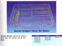 Designer Dinner Set Basket