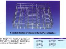 Designer Double Rack Plate Basket