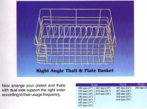 Right Angle Thali and Plate Basket